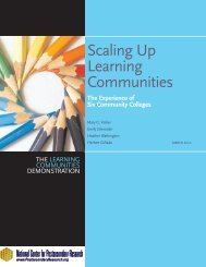 The Experience of Six Community Colleges - National Center for ...