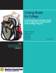 Getting Ready for College - National Center for Postsecondary ...