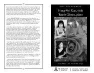 Hong-Mei Xiao, viola Tannis Gibson, piano - School of Music