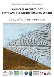 LANDSCAPE ARCHAEOlOGY. EGYPT AND THE ... - CFEETK - CNRS