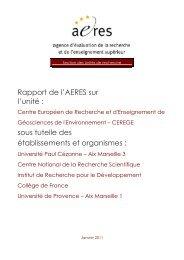CEREGE - Centre Européen de Recherche et d ... - Aeres