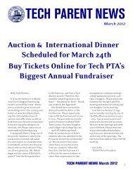 PTA Newsletter March - Brooklyn Technical High School