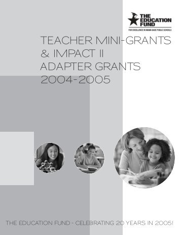 teacher mini-grants & impact ii adapter grants 2004-2005