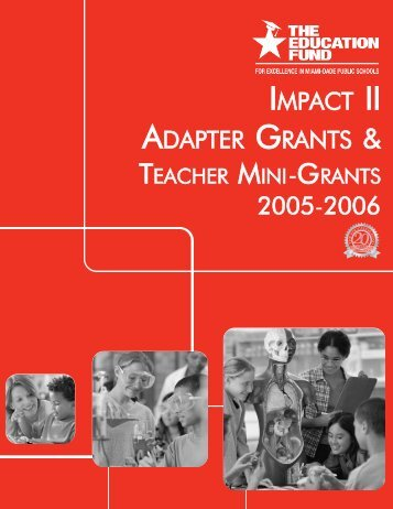 2005-2006 Teacher Mini-Grants Award Booklet - The Education Fund