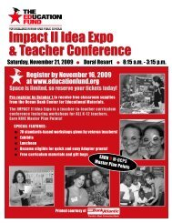 Impact II Idea Expo & Teacher Conference - The Education Fund