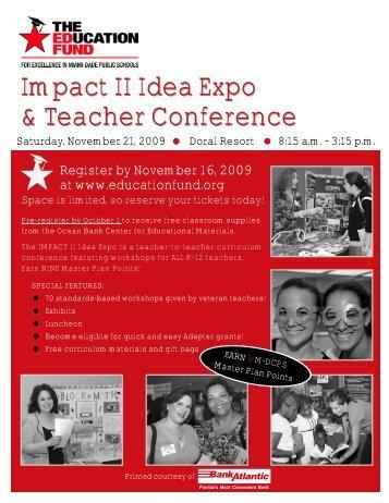 Impact II Idea Expo & Teacher Conference - The Education Fund
