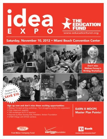 Idea Expo Registration Brochure - The Education Fund