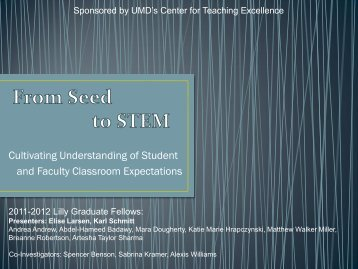 Blossoms on STEM Expectations - Center for Teaching Excellence