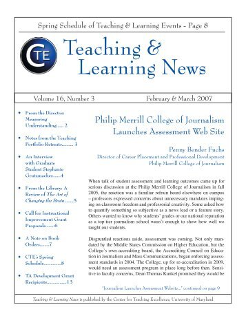 Teaching & Learning News - Center for Teaching Excellence