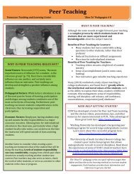 Peer Teaching - Tennessee Teaching and Learning Center