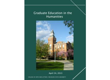 Graduate Education in the Humanities - Michigan State University