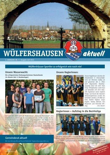 Ausgabe 07/2012 - 19 - Gemeinde Wülfershausen