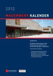 MAUERWERK KALENDER - Adolf Würth GmbH & Co. KG