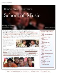 9.13 Newsletter2v08 - College of Fine Arts - Illinois State University