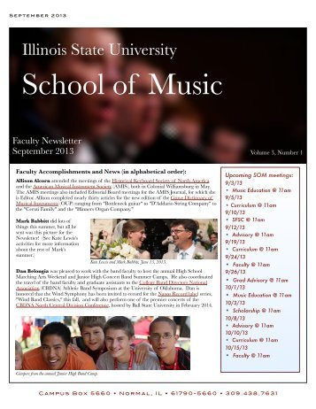 9.13 Newsletter2v08 - College of Fine Arts - Illinois State University