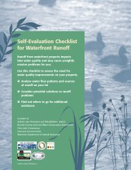Self Evaluation Checklist for Waterfront Runoff - Rice Lake, Lake ...