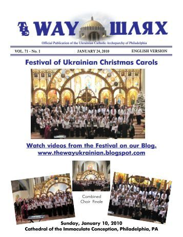 01/24/10 - Ukrainian Catholic Archeparchy of Philadelphia