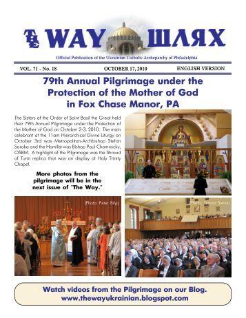 10/17/10 - Ukrainian Catholic Archeparchy of Philadelphia
