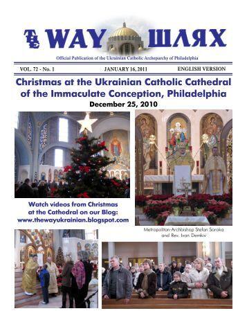 01/16/11 - Ukrainian Catholic Archeparchy of Philadelphia