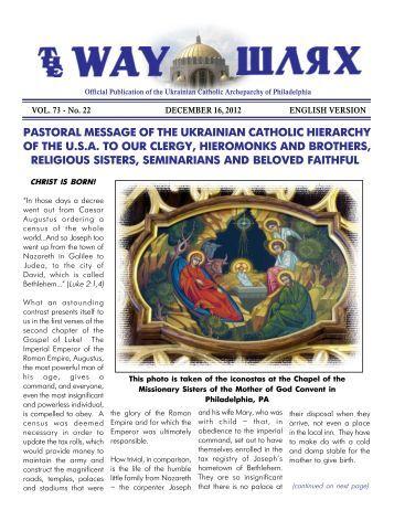 12/16/12 - Ukrainian Catholic Archeparchy of Philadelphia
