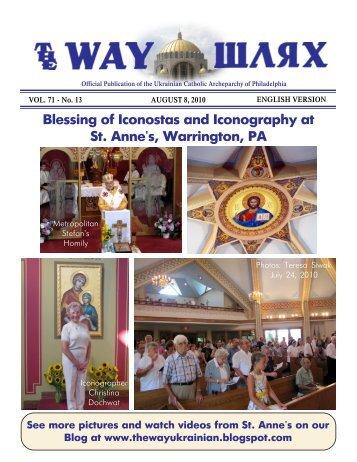 08/08/10 - Ukrainian Catholic Archeparchy of Philadelphia