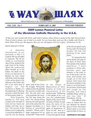 02/15/09 - Ukrainian Catholic Archeparchy of Philadelphia