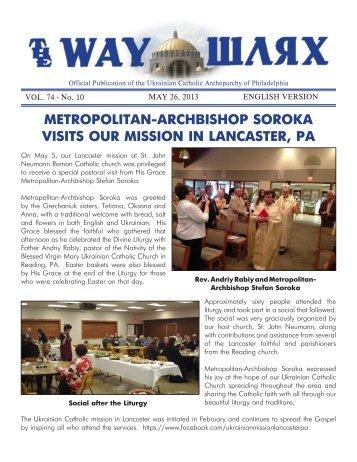 05/26/13 - Ukrainian Catholic Archeparchy of Philadelphia