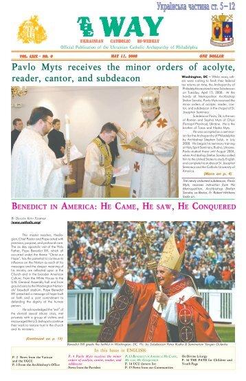 oct. 12 - Ukrainian Catholic Archeparchy of Philadelphia
