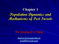 Population Dynamics and Mechanisms of Pest Insects