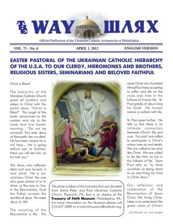 04/01/12 - Ukrainian Catholic Archeparchy of Philadelphia