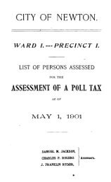 Assessed Polls 1901 - Newton Free Library
