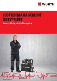 flottenmanagement orsy®fleet - Adolf Würth GmbH & Co. KG