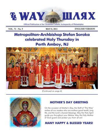 05/08/11 - Ukrainian Catholic Archeparchy of Philadelphia