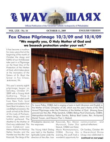 10/11/09 - Ukrainian Catholic Archeparchy of Philadelphia