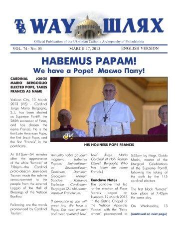 03/17/13 - Ukrainian Catholic Archeparchy of Philadelphia
