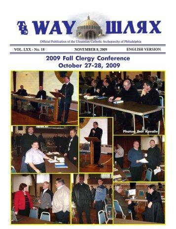 11/08/09 - Ukrainian Catholic Archeparchy of Philadelphia