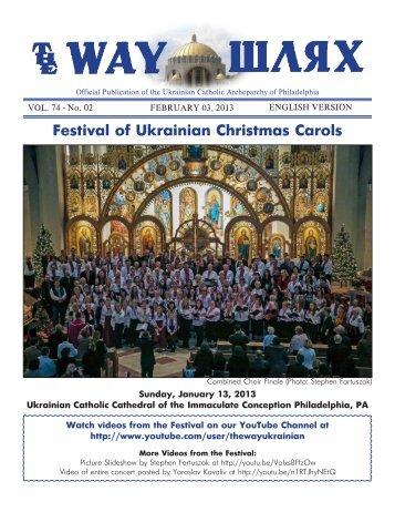 02/03/13 - Ukrainian Catholic Archeparchy of Philadelphia
