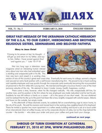 02/21/10 - Ukrainian Catholic Archeparchy of Philadelphia