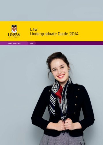 Law Undergraduate Guide 2014 - UNSW Law - The University of ...