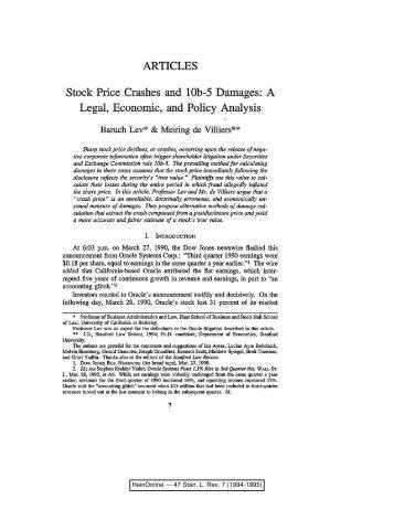 HeinOnline --- 47 Stan. L. Rev. 7 (1994-1995) - UNSW Law