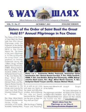 10/07/12 - Ukrainian Catholic Archeparchy of Philadelphia
