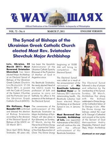 03/27/11 - Ukrainian Catholic Archeparchy of Philadelphia