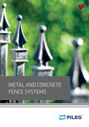 PILEG - Metal and concrete fence systems