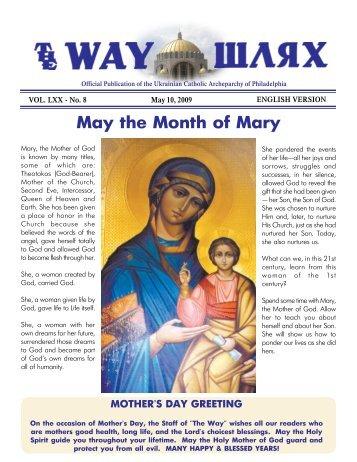 05/10/09 - Ukrainian Catholic Archeparchy of Philadelphia