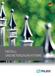PILEG - Metall- und beton- zaunsysteme (de)
