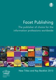 Download a PDF - Facet Publishing