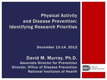 Presentation (PDF) - 96.5 KB - Office of Disease Prevention