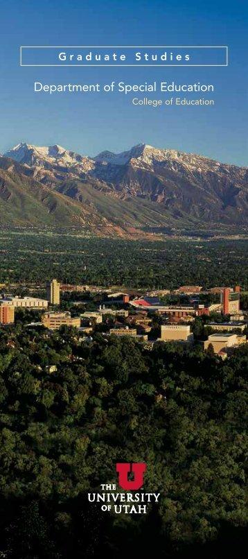 Special Education Graduate Studies - College of Education