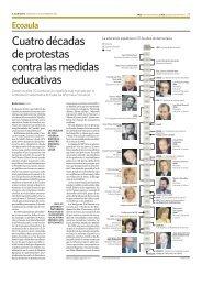 Cuatro décadas de protestas contra las medidas educativas - Ecoaula