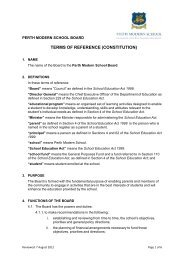 TERMS OF REFERENCE (CONSTITUTION) - Perth Modern School